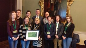 Mayor of Dublin presents TY students