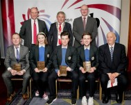 GRETB Awards 2017 recipients pictured with múinteoir Seán and Coláiste Board of Management Chairperson, Tomas Ó Coisdealbha