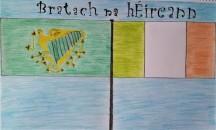 Forbairt le feiceáil ar bhratach na hÉireann thar ama